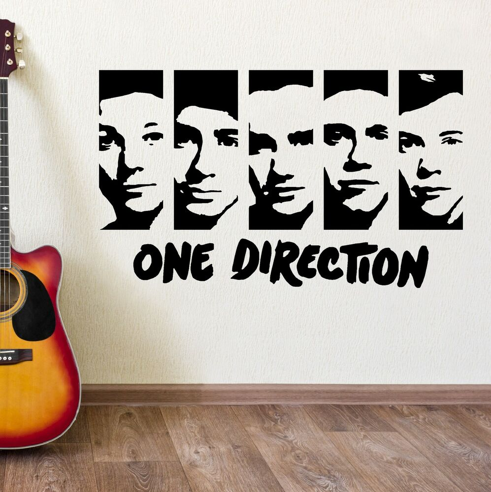 ONE DIRECTION WALL STICKERS VINYL WALL ART ROOM STICKER