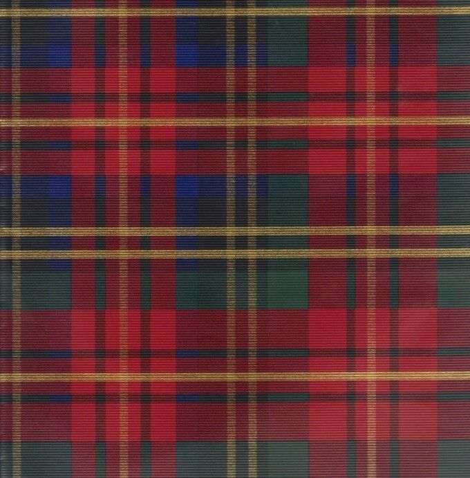 plaid wrapping paper Like a warm fleece sweater, this embossed tartan wrapping paper is a cozy yet elegant way to keep gifts warm under the tree.