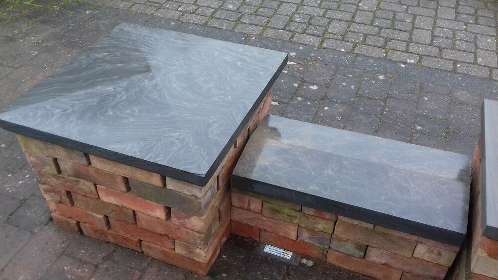 Weathered Granite Stone : Twice weathered natural stone double wall coping