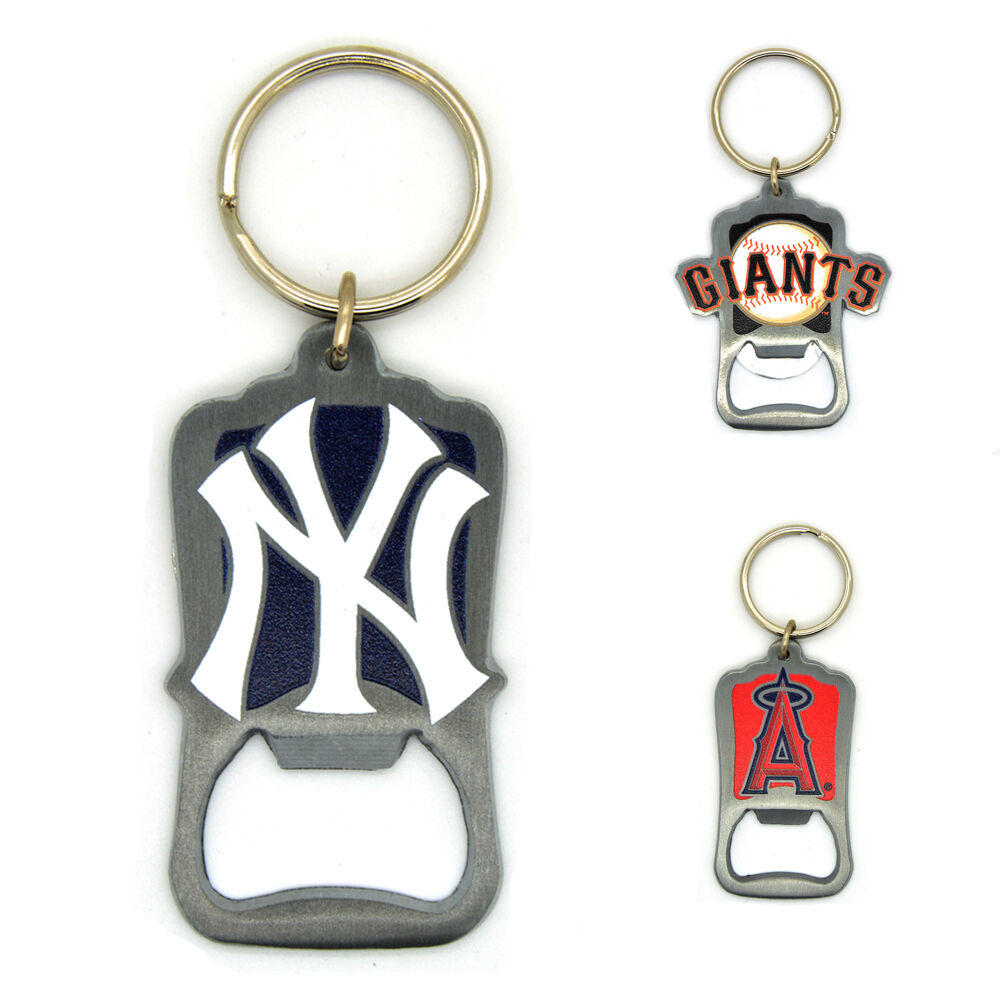 mlb officially licensed bottle opener keyring baseball yankees angels giants ebay. Black Bedroom Furniture Sets. Home Design Ideas