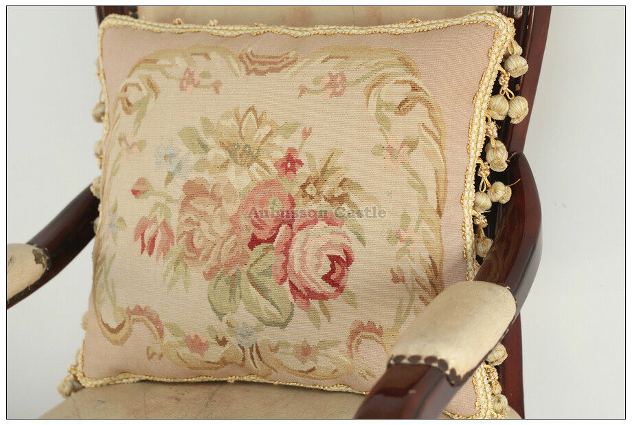 SUBTLE PINK QUEEN Aubusson Pillow Shabby French Chic Rose Chair Sofa Bed Cushion eBay