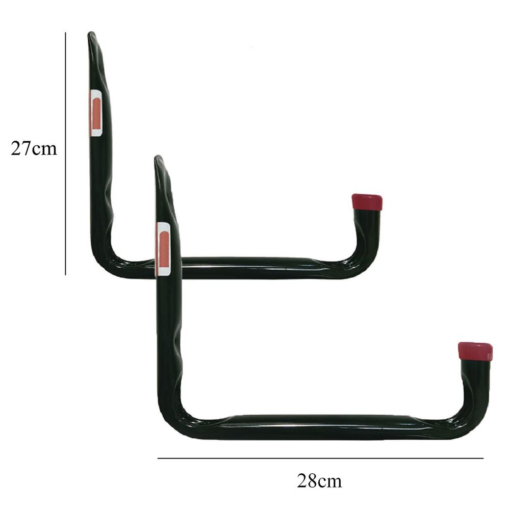 2 X Large Heavy Duty Storage Hooks Wall Mounted Ladder