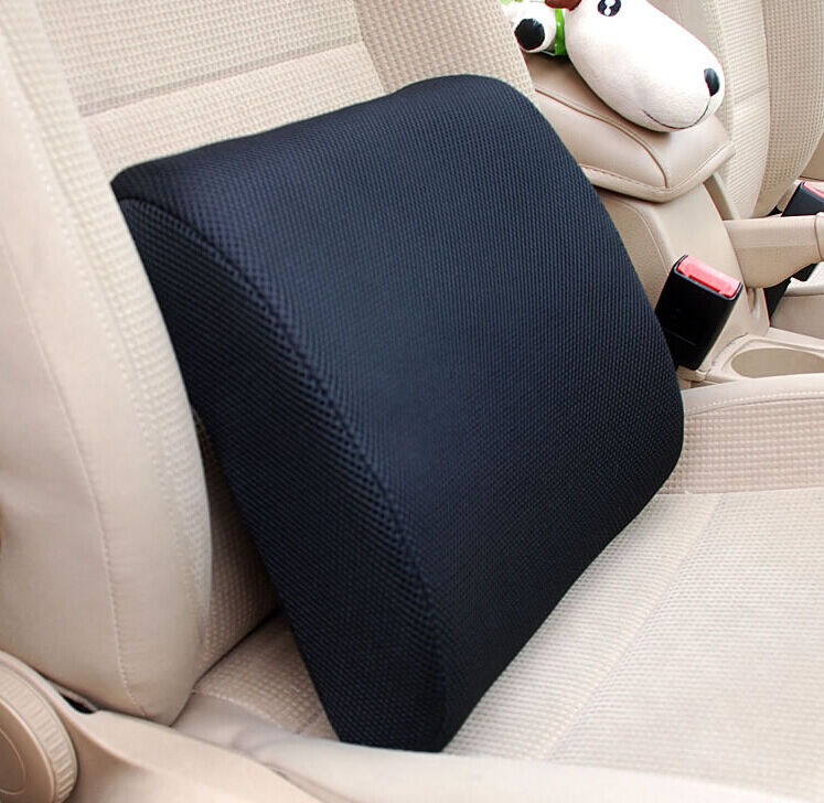 back support cushion pillow memory foam lumbar office home chair car seat medium ebay. Black Bedroom Furniture Sets. Home Design Ideas