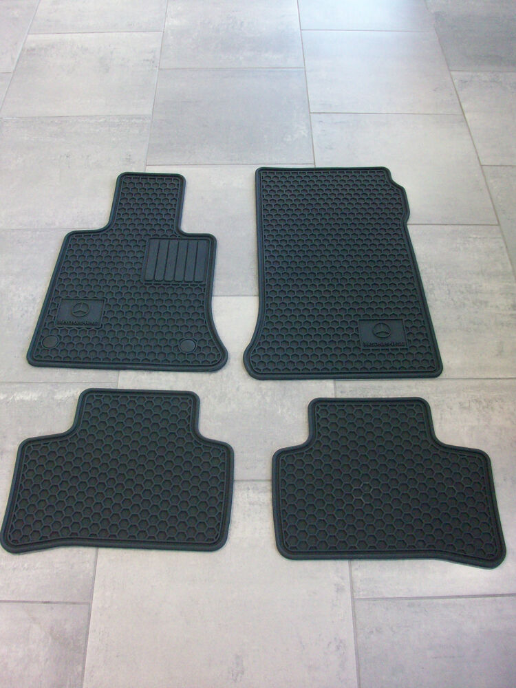 Oem mercedes benz black all season floor mats 10 15 glk for Mercedes benz e350 floor mats