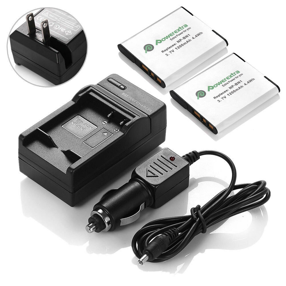 2x Np Bn1 Npbn1 N Type Battery Charger For Sony