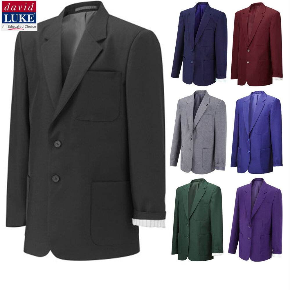 David Luke Boys Mens Blazer Jacket Suit School Uniform