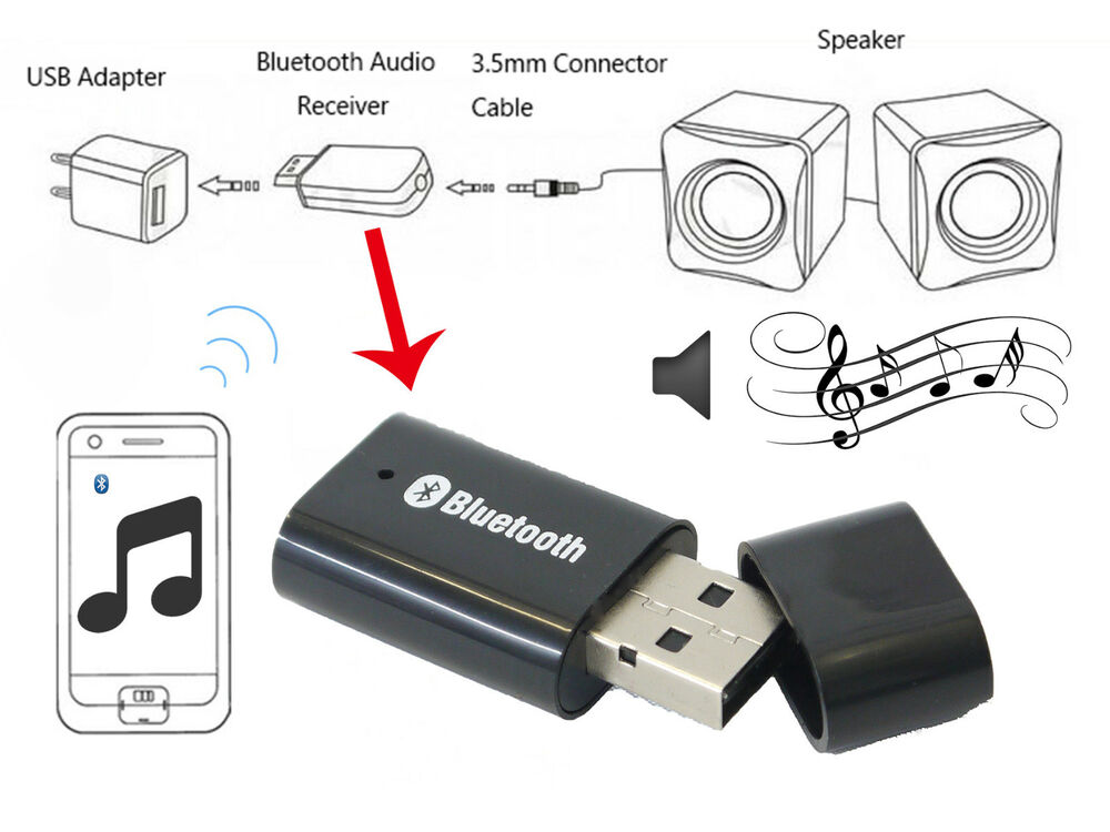 bluetooth music stereo wireless audio receiver adapter for. Black Bedroom Furniture Sets. Home Design Ideas