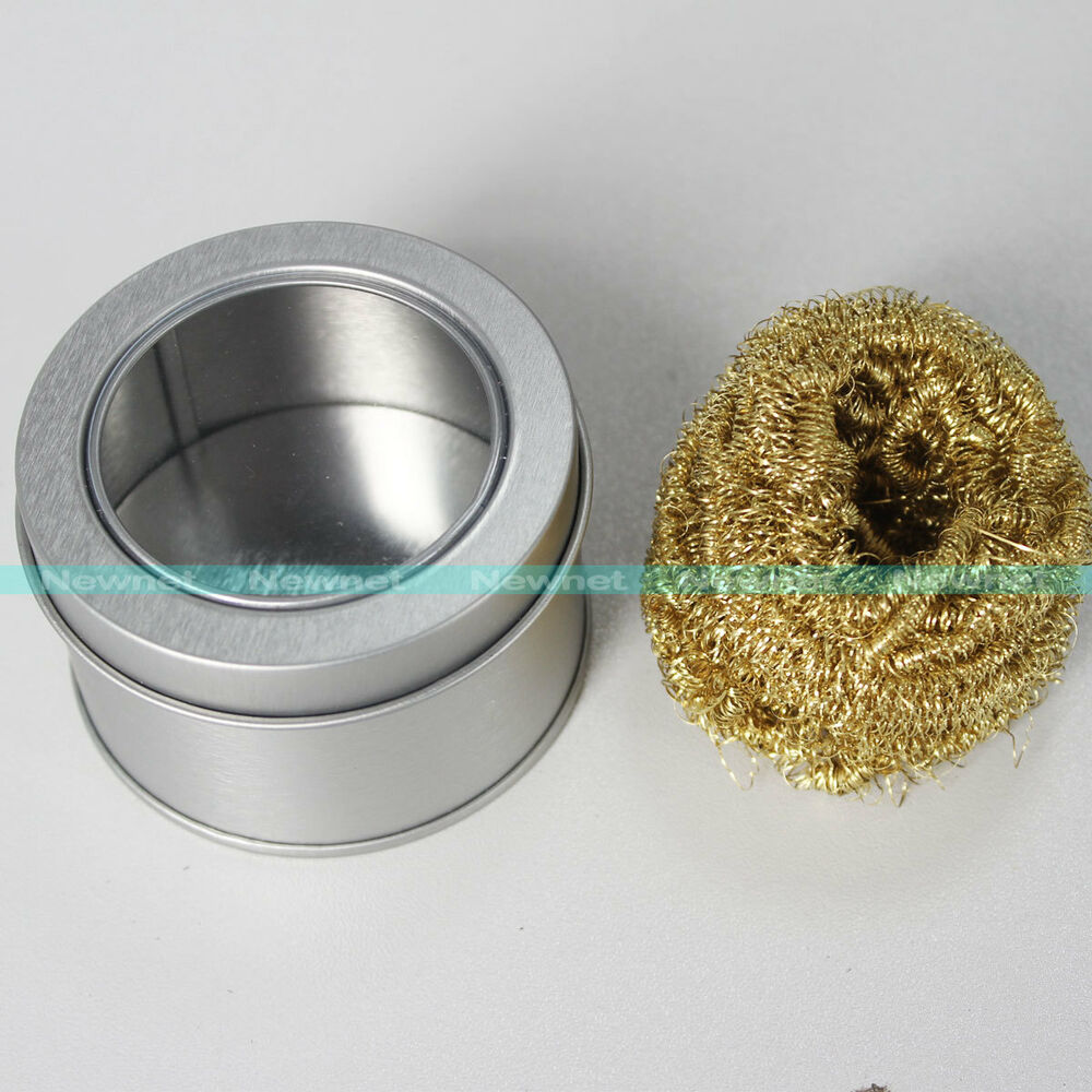 soldering solder iron tip cleaner copper brass cleaning wire sponge ball ebay. Black Bedroom Furniture Sets. Home Design Ideas