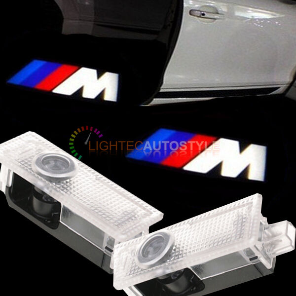 pair of bmw m sport cree led logo ghost shadow door light. Black Bedroom Furniture Sets. Home Design Ideas