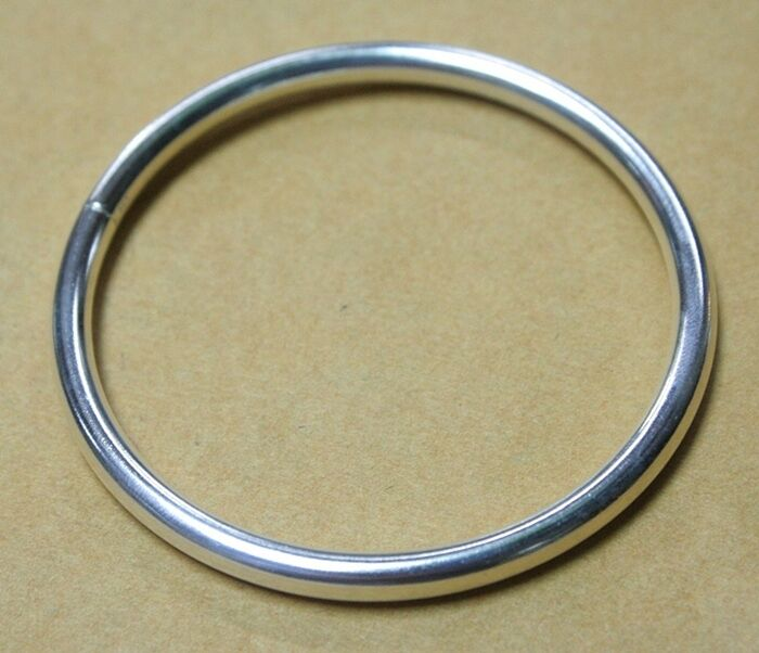 New Sterling Silver Mens Bracelets Bangles Plain Smooth
