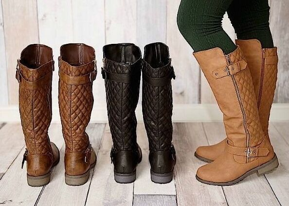 809794599 WOMENS KNEE HIGH RIDING BOOTS