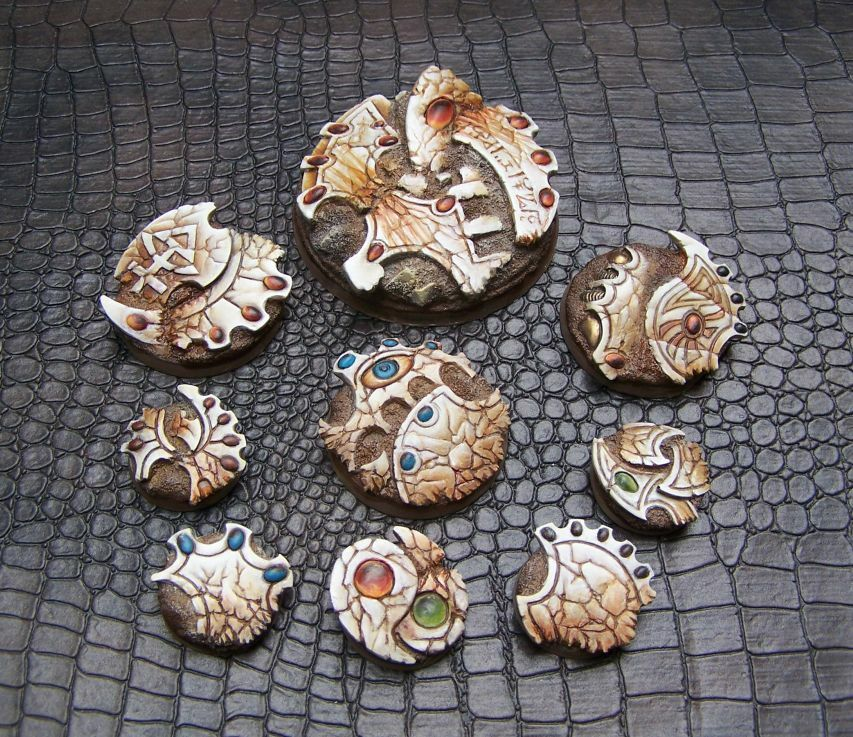 60mm 40mm ELDAR RUINS RESIN BASES FOR WARHAMMER 40K