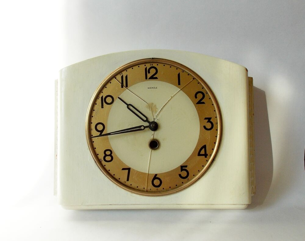 Vintage 1940s Kitchen German Wall Clock KIENZLE Germany