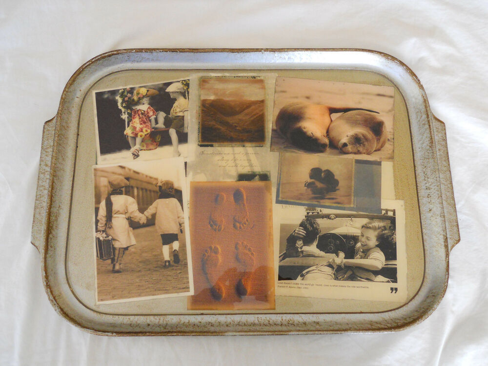 Vintage Reproduction Kitchen Decor Tray Handmade In Italy