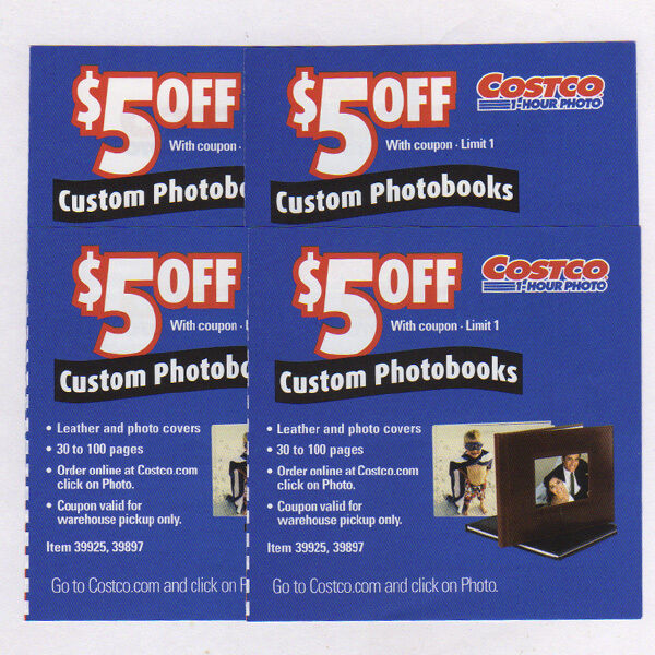 Costco Delivery From Store: 10 COSTCO PHOTOBOOK PHOTO BOOK $5.00 OFF COUPONS