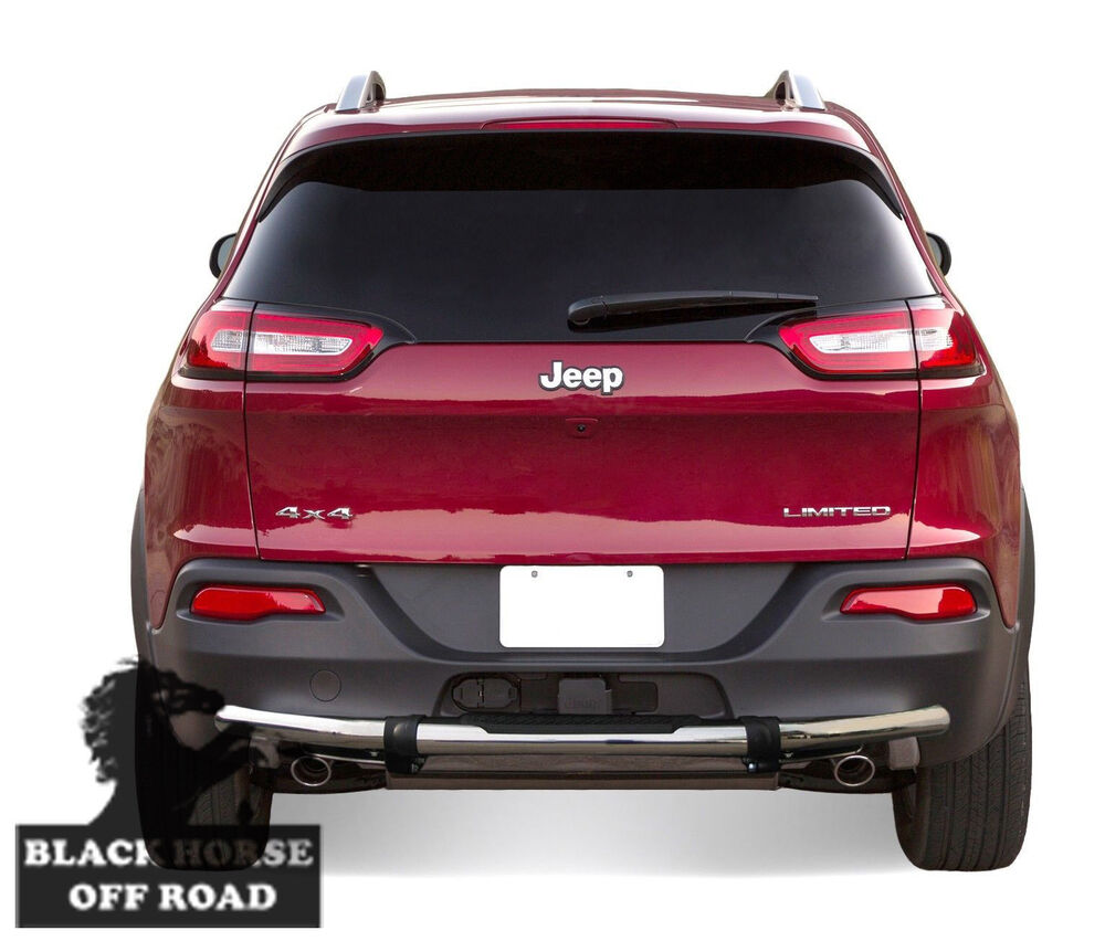 14 16 jeep cherokee stainless rear bumper guard with pad black horse 8djpcess 1 ebay. Black Bedroom Furniture Sets. Home Design Ideas