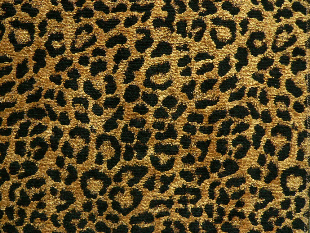 Drapery upholstery fabric chenille animal print leopard for Upholstery fabric