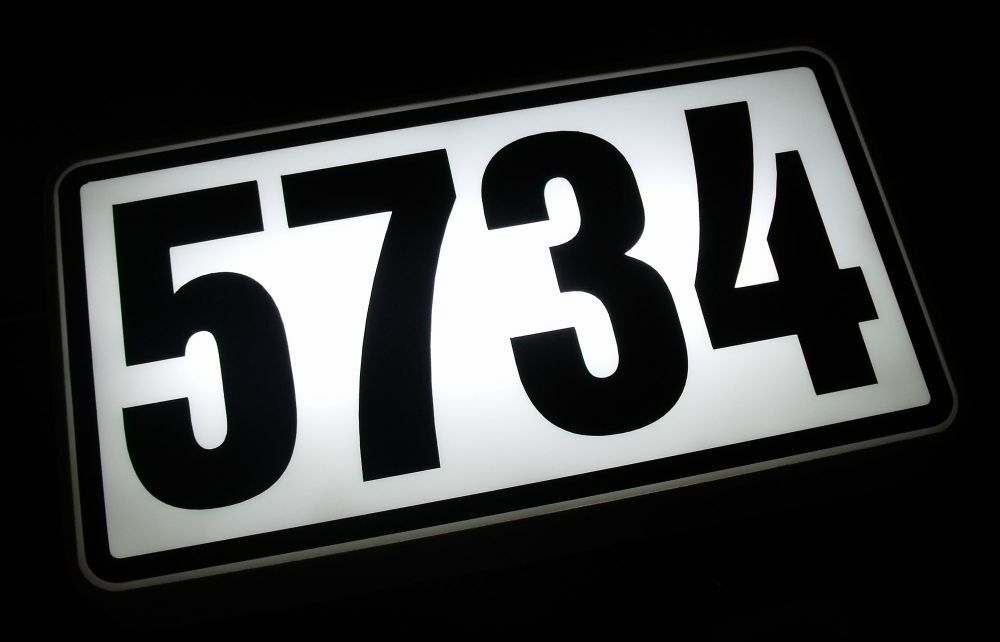 personalized lighted address sign house number led lighted. Black Bedroom Furniture Sets. Home Design Ideas