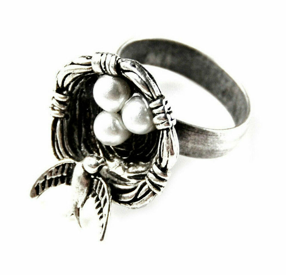 Bird nest ring accessories rings women 39 s jewelry for Decor jewelry