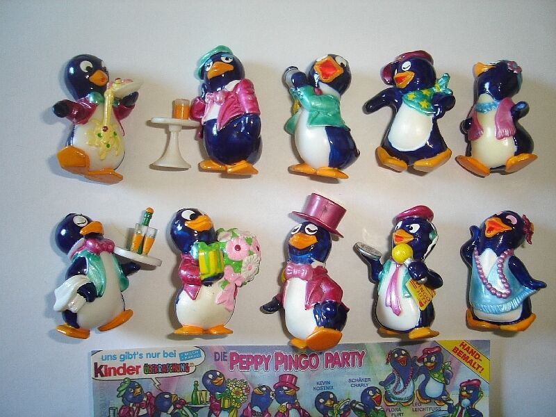 Kinder Surprise Set Peppy Pingos Party Penguins 1994