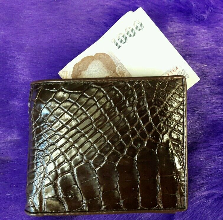 Genuine Alligator Wallets Crocodile Belly Skin Leather