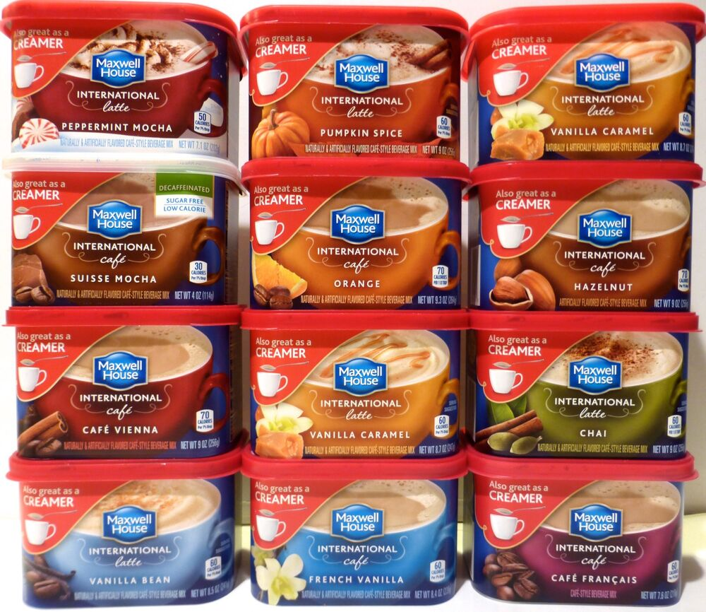MAXWELL HOUSE International Latte Cafe Drink Mix 3 CANS