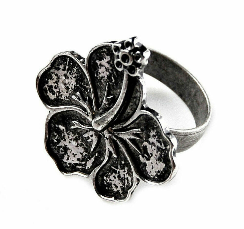 Hibiscus Flower Ring - Accessories - Rings - Women's ... Jewellery Rings For Women