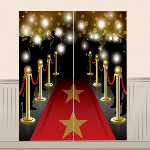 Hollywood Wall Scene Setter Party Decorations Oscars Star ...
