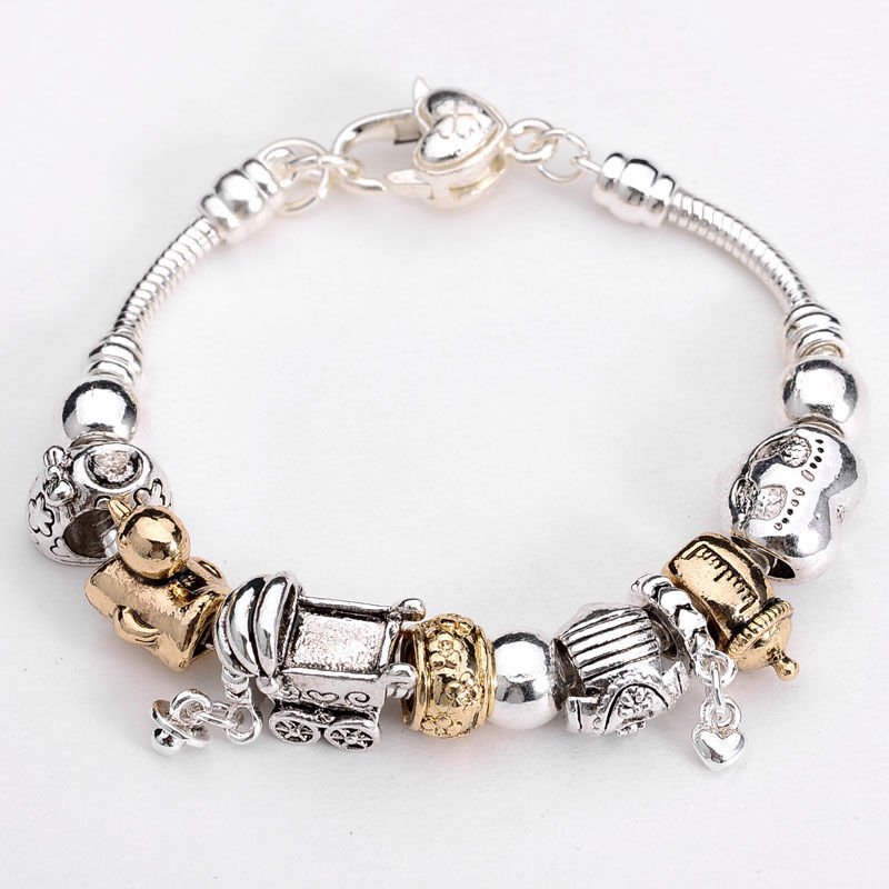 xmas european murano glass beads sterling silver charm bracelet xb086 box ebay. Black Bedroom Furniture Sets. Home Design Ideas