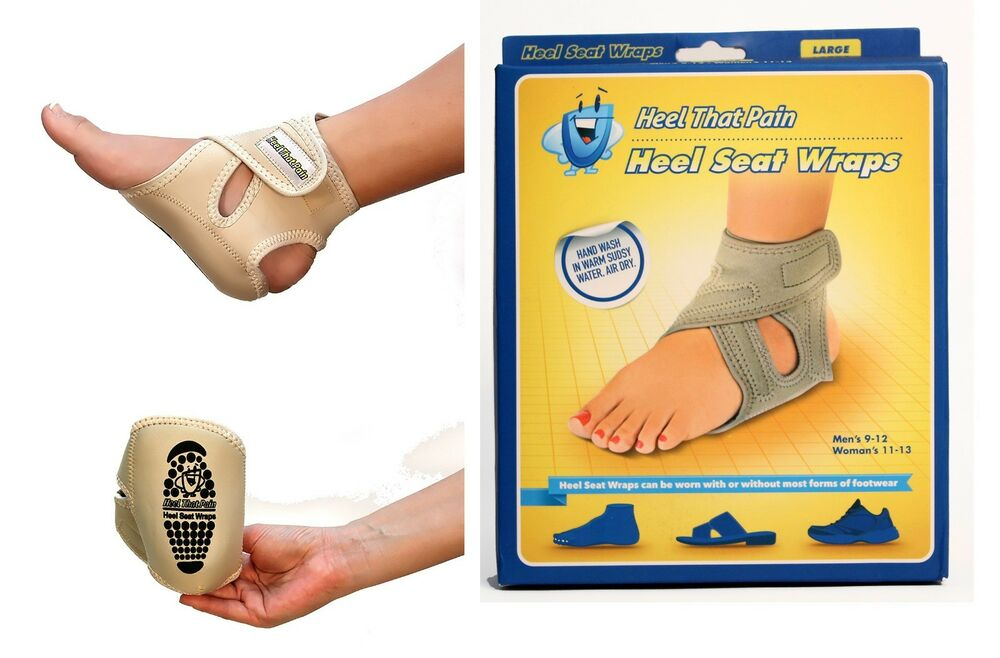 308a5e7b24825f Heel That Pain with the Heel Seat Wraps™ - two pcs inside the box. 1 each  foot.
