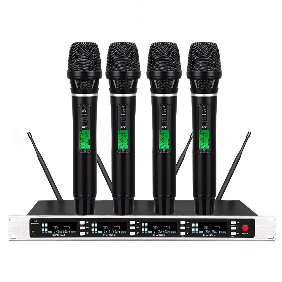 4x100 channels uhf true diversity wireless microphone for shure sm58 wireless ebay. Black Bedroom Furniture Sets. Home Design Ideas