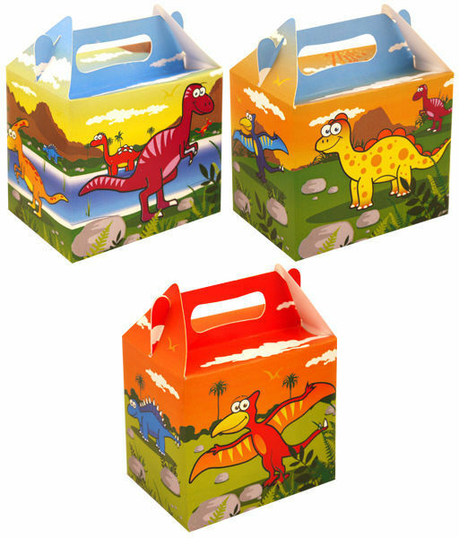 Dinosaur Party Food Lunch Boxes Childrens Gift Bags Loot