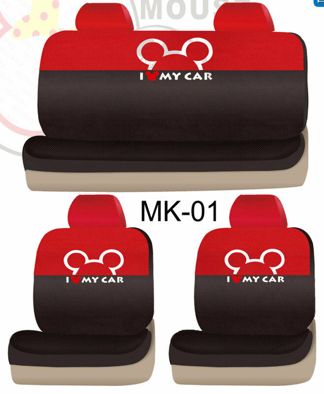 new mickey mouse car seat covers set 10 pcs mk 01 ebay. Black Bedroom Furniture Sets. Home Design Ideas