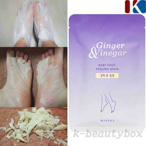 foot peeling korean cosmetics ginger vinegar baby foot peeling mask 1 pair 8809478327433 ebay. Black Bedroom Furniture Sets. Home Design Ideas