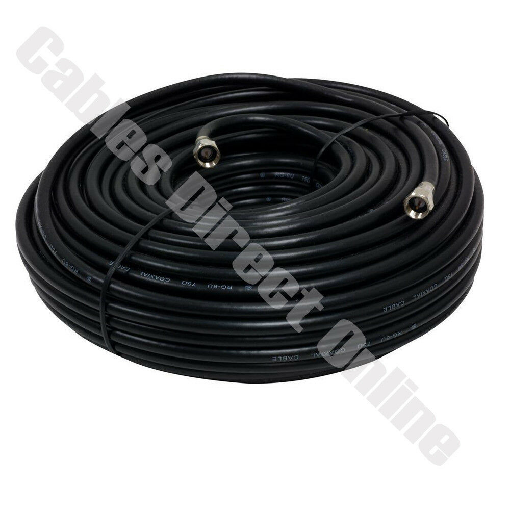 100ft extension rg6 black coaxial hd satellite dish cable ... dish network wiring schematic dish cable wiring