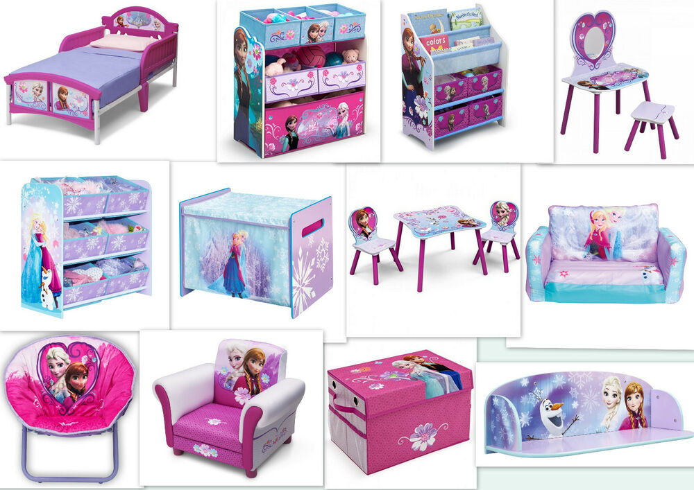 disney frozen auswahl kinderm bel teppich sitzgruppe regal die eisk nigin ebay. Black Bedroom Furniture Sets. Home Design Ideas