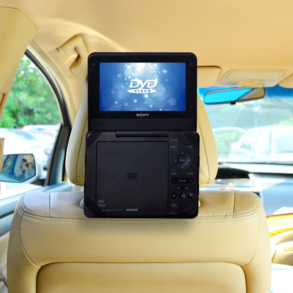 car headrest mount 7 standard portable dvd player holder. Black Bedroom Furniture Sets. Home Design Ideas