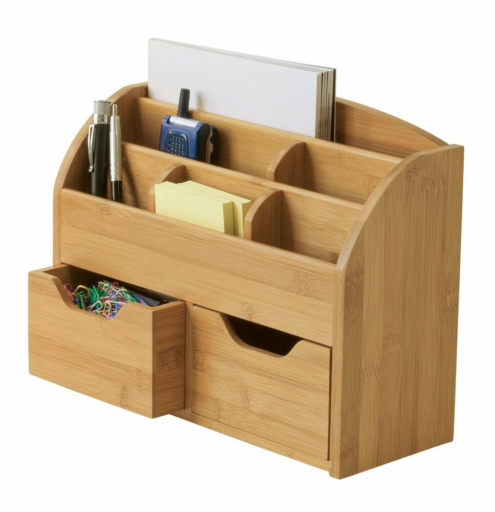 Wood home office slotted file desk organizer office home - Over the desk organizer ...