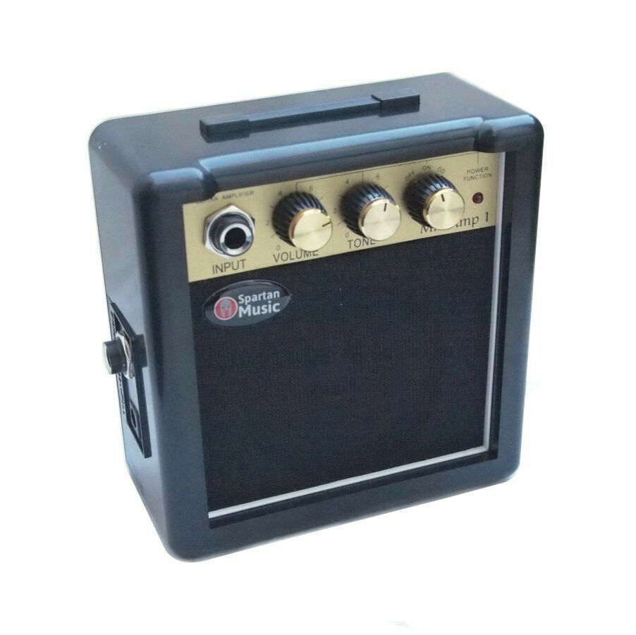 mini micro battery powered portable guitar amp small amplifier free pick 619271992138 ebay. Black Bedroom Furniture Sets. Home Design Ideas