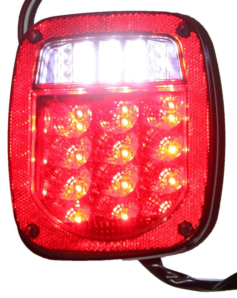 Red Jeep Tj Cj Yj Jk Replacement Tail Light Without Led S