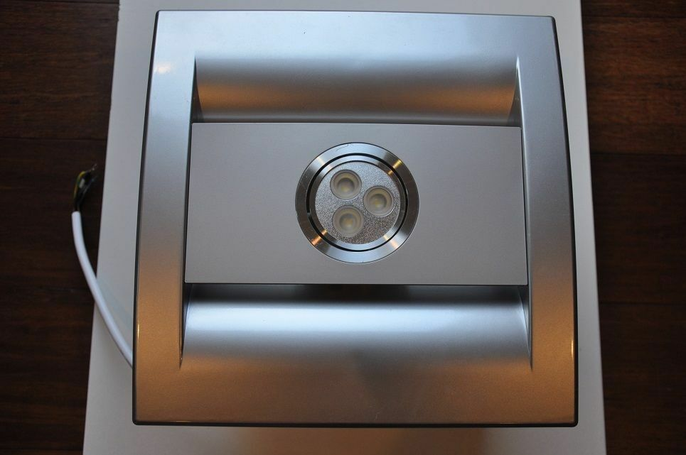 Bathroom exhaust fan silent series 85 cfm led light for Bathroom exhaust fan with led light