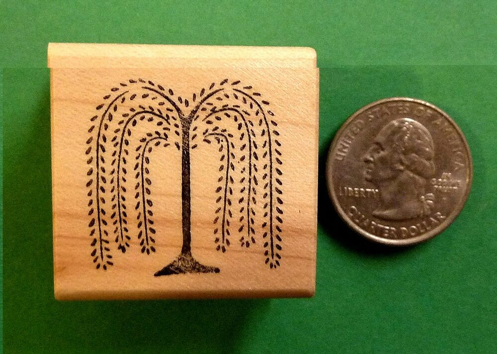 Primitive Willow Tree, Wood Mounted Rubber Stamp | eBay