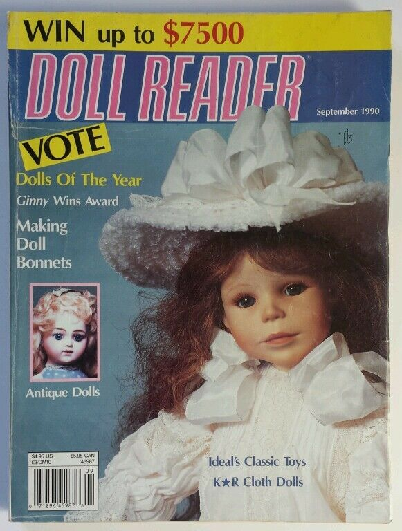 Doll Reader Magazine September 1990 Making Doll Bonnets