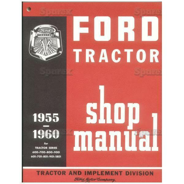 ford tractor factory shop service repair manual