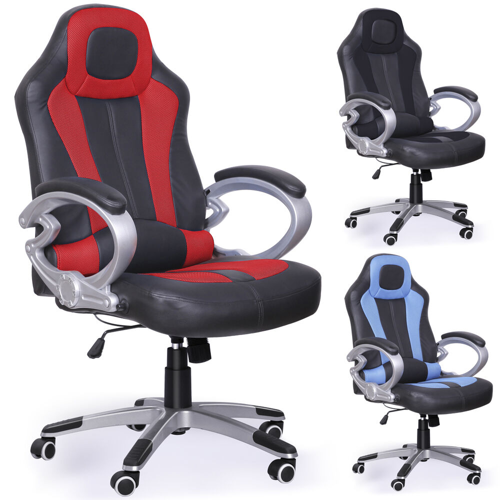 UK fice Chair Swivel Desk Sports Racing Gaming puter