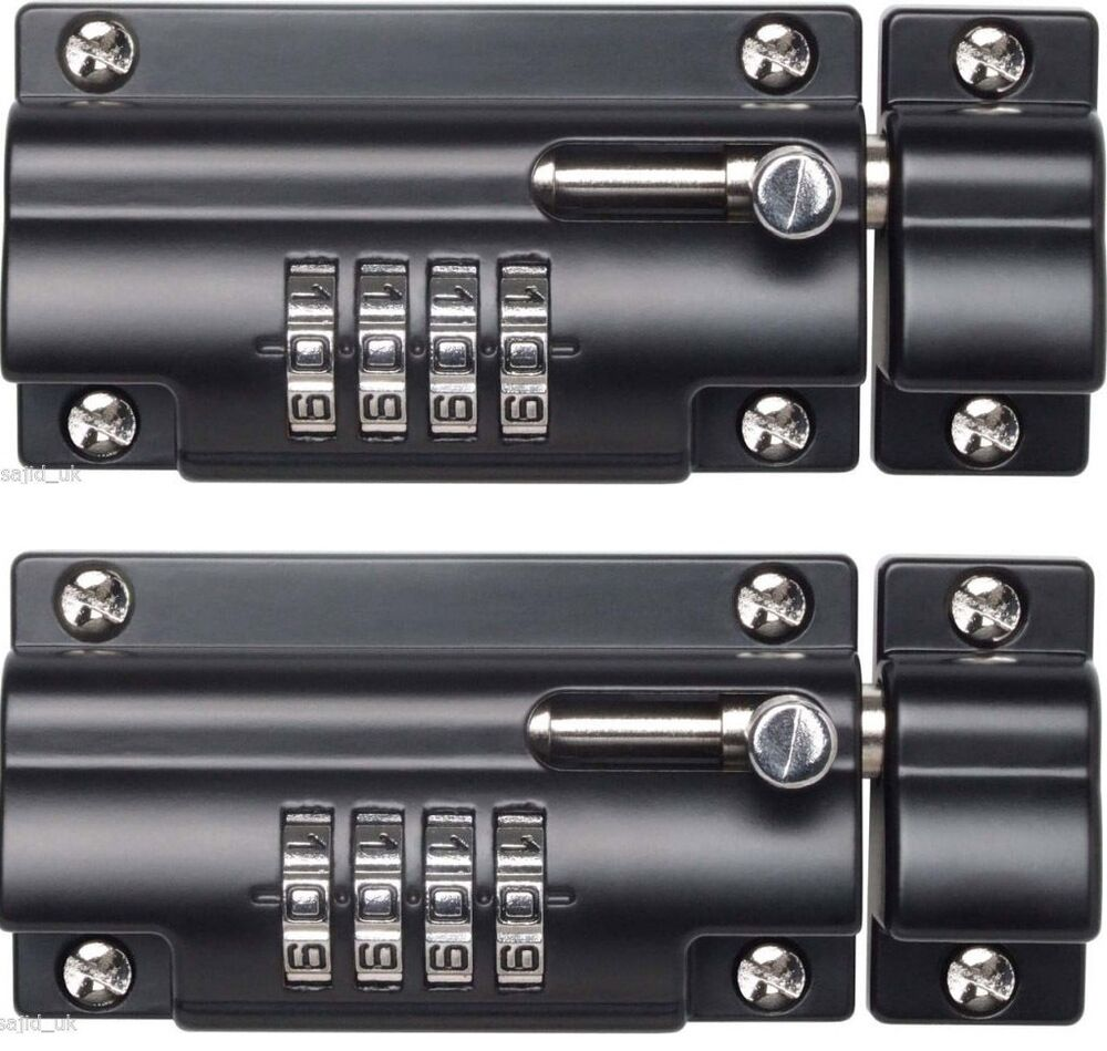 2x Sterling Combination Code Lock Sliding Door Bolt For Gates Doors Sheds 110mm Ebay