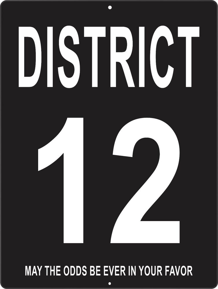 Hunger Games District 12 Sign HUNGER GAMES aluminum ...