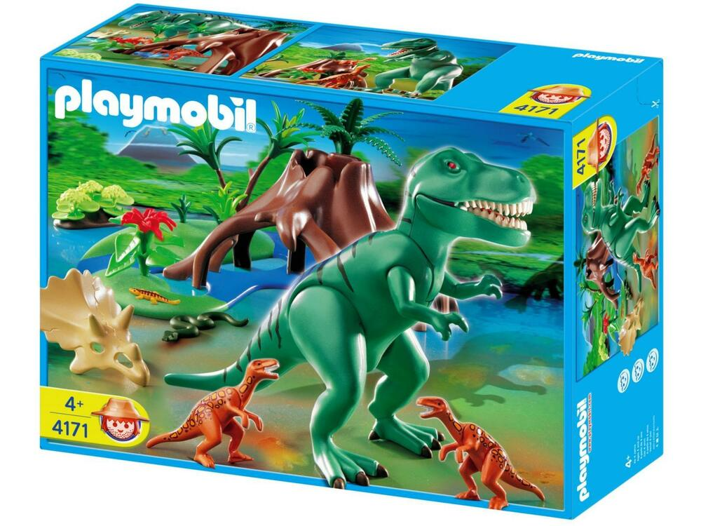 New sealed playmobil 4171 t rex with velociraptors - Dinosaur playmobile ...