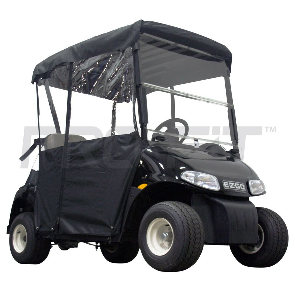 2 passenger enclosure for ezgo rxv golf carts in black. Black Bedroom Furniture Sets. Home Design Ideas