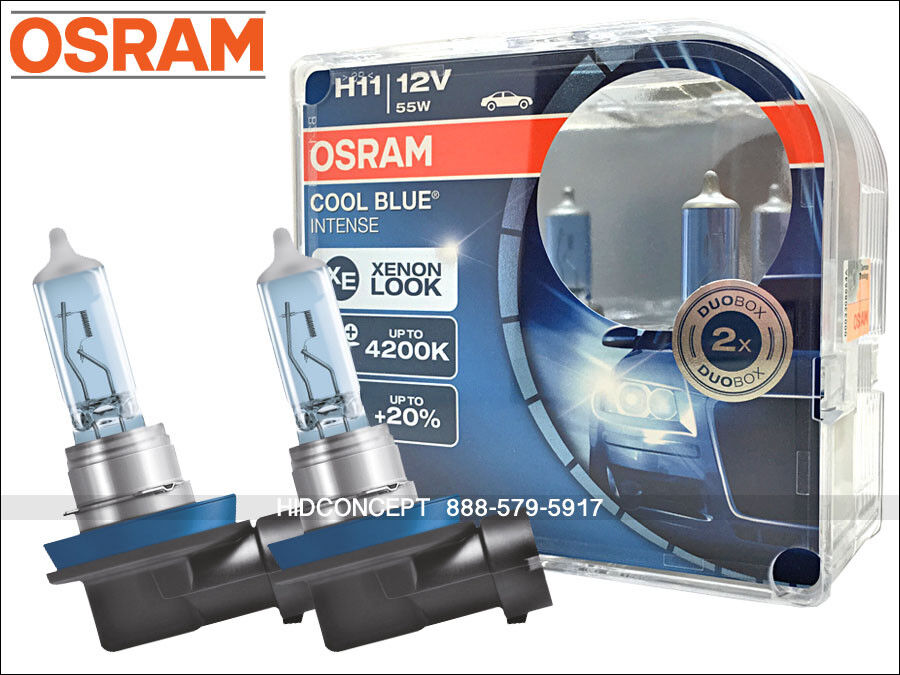 new osram cbi cool blue intense h11 headlight bulbs 20 4200k color xenon look ebay. Black Bedroom Furniture Sets. Home Design Ideas